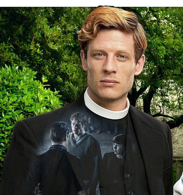 "jamesnortonblog: ""James Norton as Sidney Chambers in Grantchester Source: Serial ""Grantchester"": ksiądz Sidney Chambers, detektyw z plebanii """