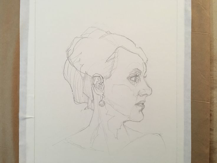 Portrait drawing by Aaron West