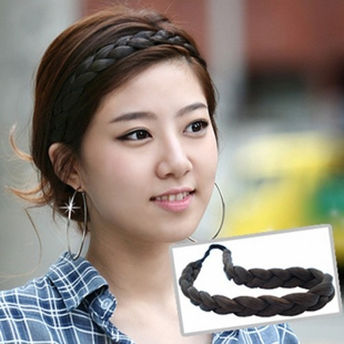 New Lady Elastic Hairpiece Headband Hair Belt Plait Hair Extensions Hairband P25 | eBay