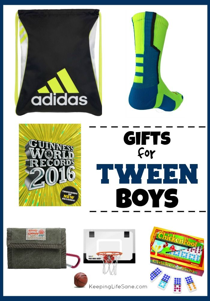 It can be hard to find gifts that tweens will like.  Here's a great list! Gifts for Tween Boys - Keeping Life Sane