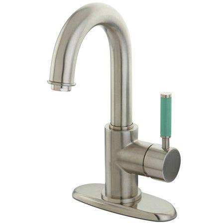 Green Eden Single Handle Bathroom Faucet with Push-up Drain