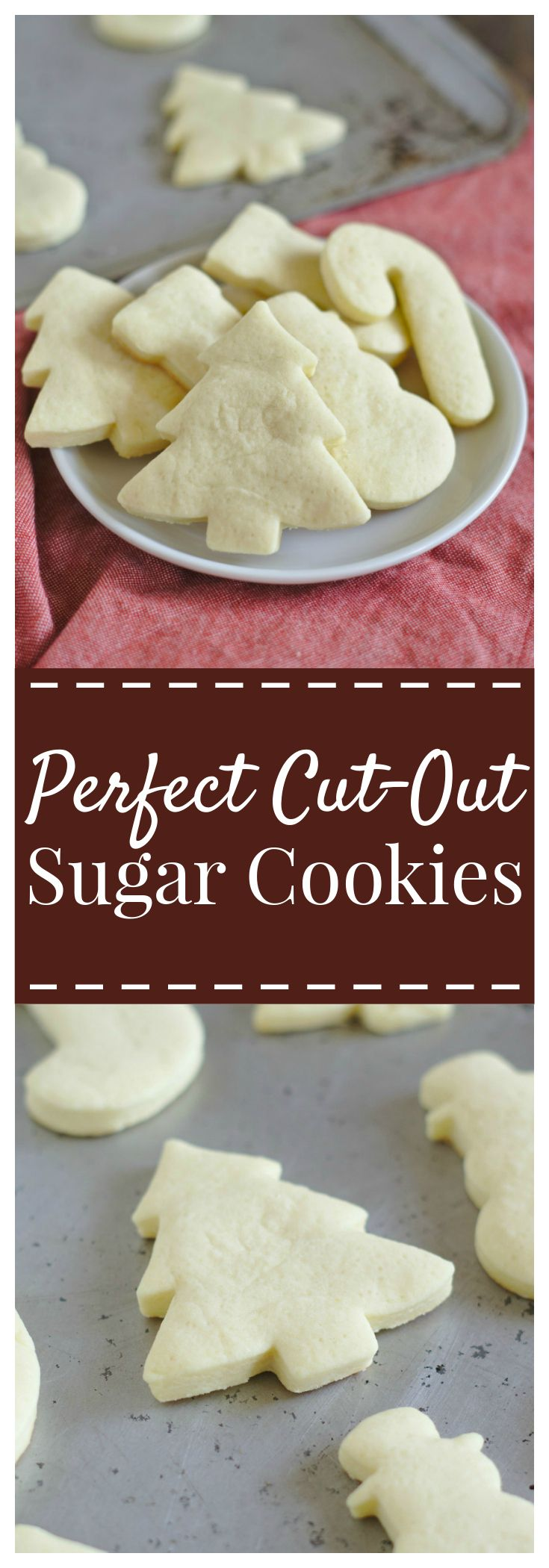 Cut-Out Sugar Cookies – A staple Christmas cookie recipe! Soft sugar cookies that keep their shape, perfect for decorating! #christmas #cookie #sugar #cutout