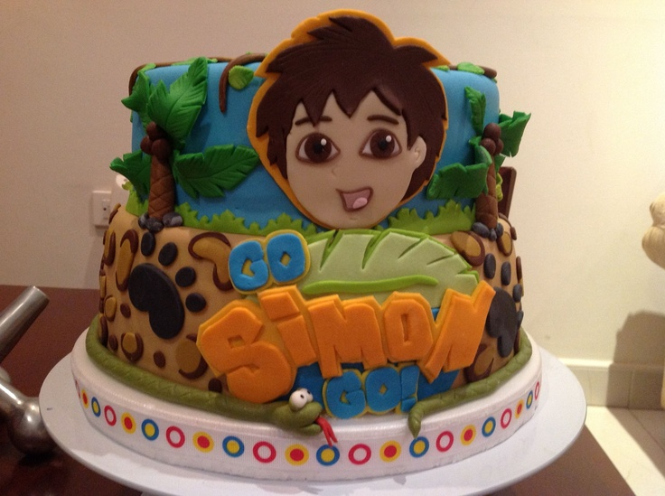 Best My Cakes Images On Pinterest Birthday Cakes Cakes And - Go diego go birthday cake