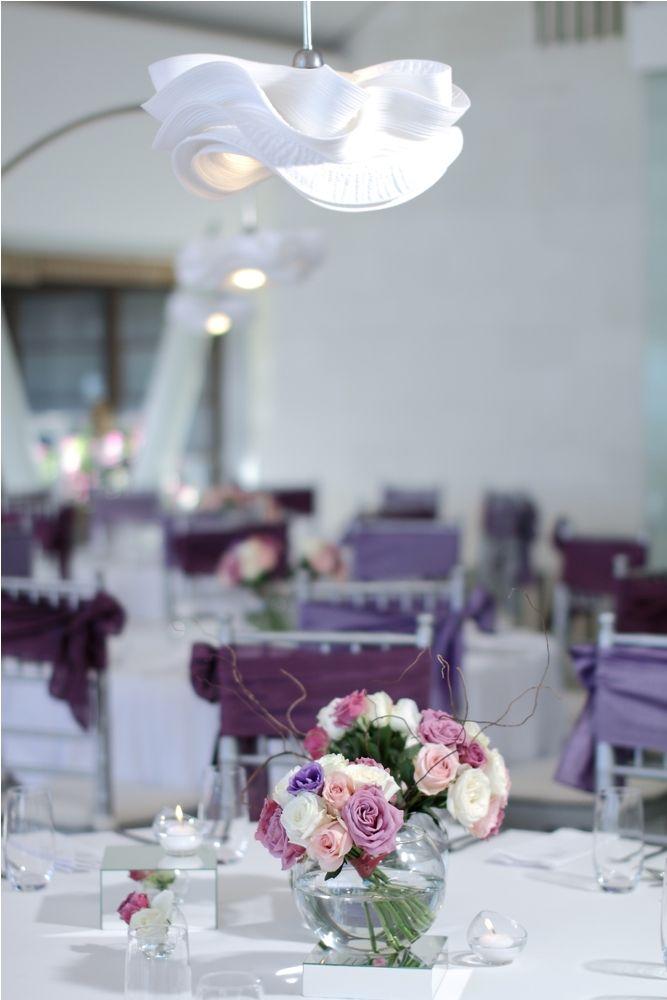 Purple Lisianthus, pink and white Rose centerpiece 1 by Tirtha Bridal Uluwatu Bali