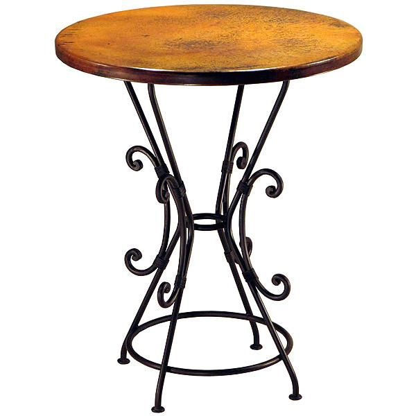 This Trompos Pub Table Is Perfect For Those Entertaining Areas Without A  Lot Of Extra Room. Pair Our Copper Collection Bar Stools Around The  Beautiful ...