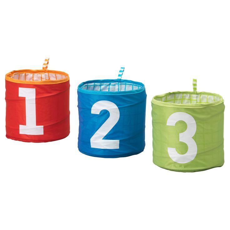 KUSINER  Storage basket, turquoise, green/red  $4.99 / 3 pack  Article Number:   901.632.57