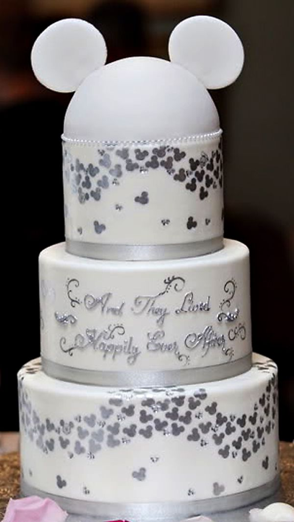 and they lived happily ever after mickey wedding cake! #disney