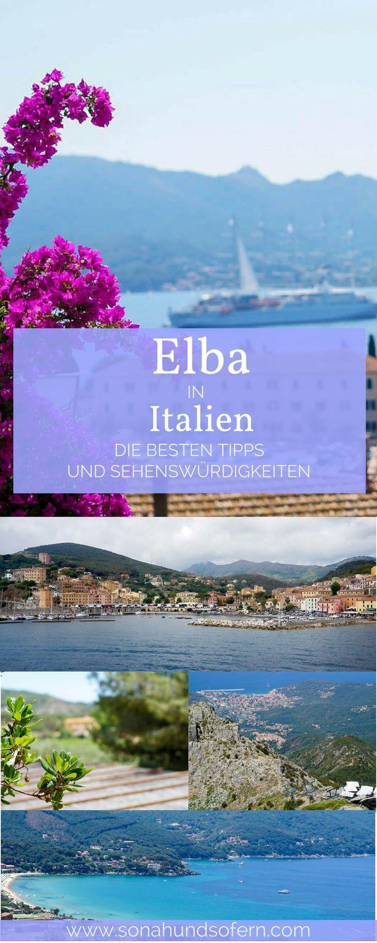 Die besten Tipps und Sehenswürdigkeiten für Elba. Eine kleine Mittelmeer Insel in Italien. Für deine nächste längere Reise oder deinen kurzen Urlaub nach Italien. Erfahrt mehr über Elbas Strände, der Hauptstadt Portoferraio und Napoleon. Jetzt auf www.sonahundsofern.com