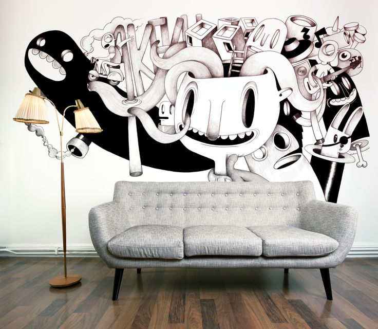 Wall design by oscar llorens via behance
