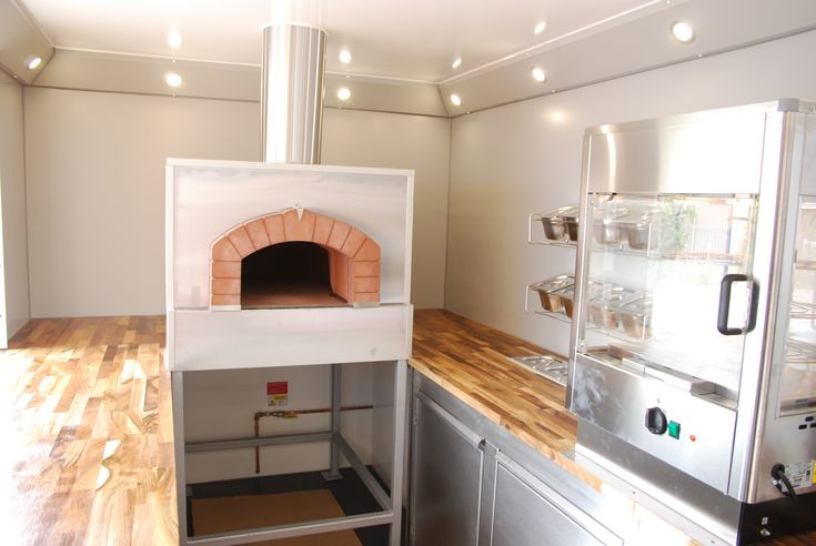 Trailer Interior featuring Wood Fired Pizza Oven