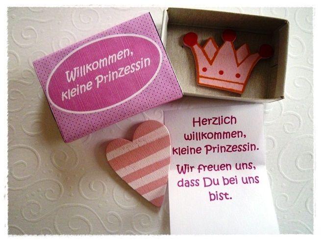 """Box """"Willkommen, kleine Prinzessin"""" von Kreativstübchen Jansen auf DaWanda.com"""