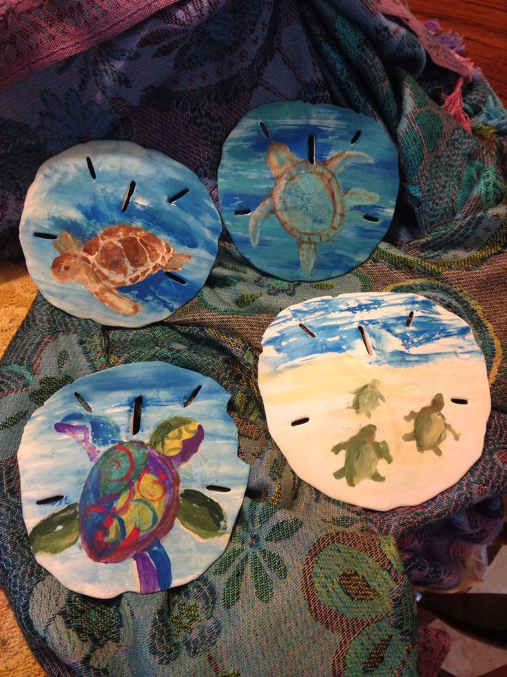 Painting sand dollars...