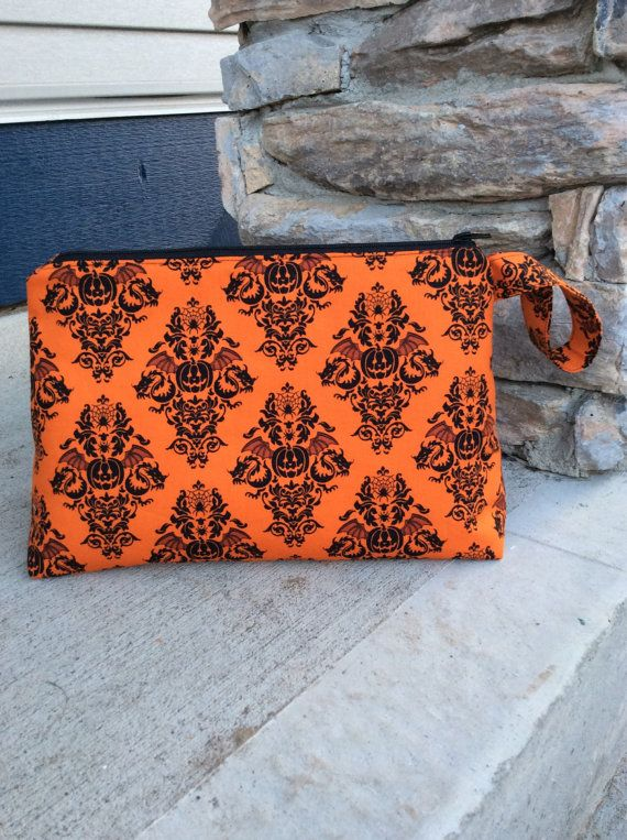 Halloween Pumpkin Zippered Wedge Knitting Project by KnittersNook, $26.00