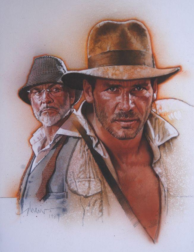 The Joneses - Indiana Jones and the Last Crusade | Art by Drew Struzan - website: www.DrewStruzan.com