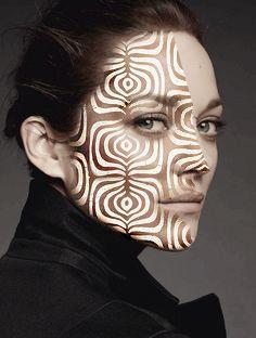 marion cotillard beauty pattern photoshop