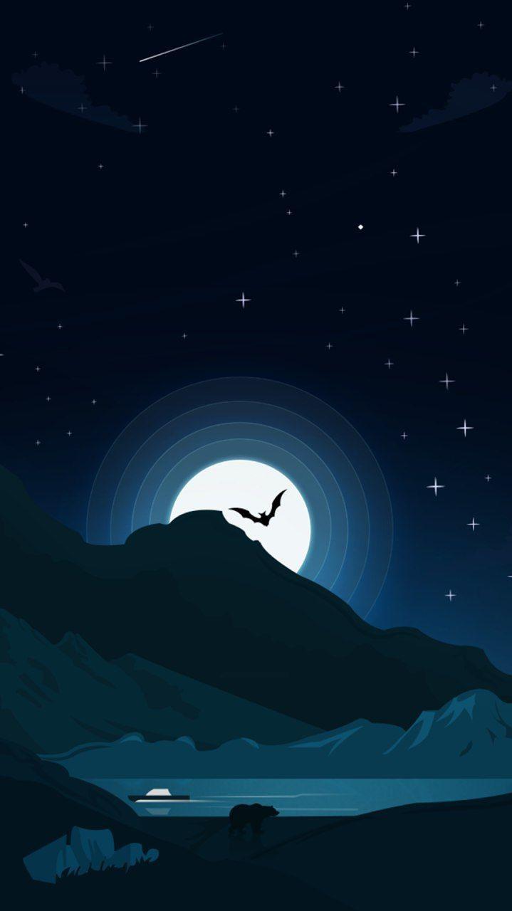Download Bat Night Minimal Iphone Wallpaper Top Free Awesome