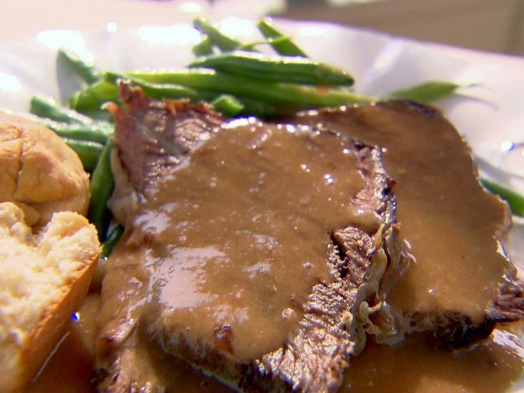 Roast Beef with Gravy Recipe : Trisha Yearwood : Food Network