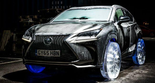 Lexus Constrói Rodas De Gelo Para o Lançamento Do Novo NX