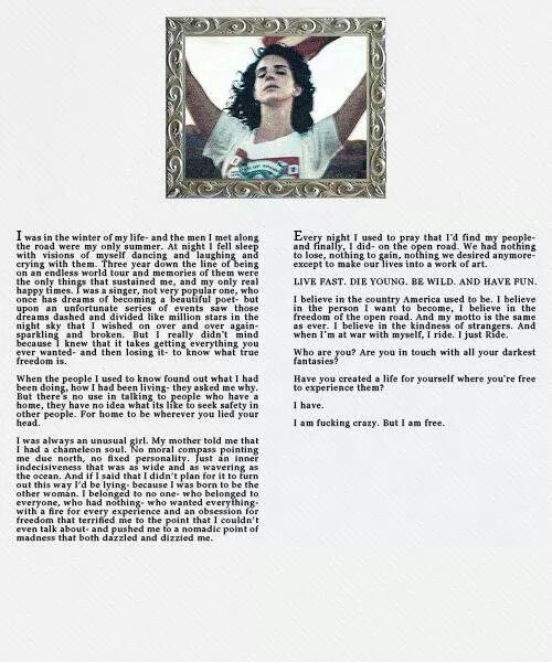 Lana Del Rey Monologue | Quotes | Pinterest