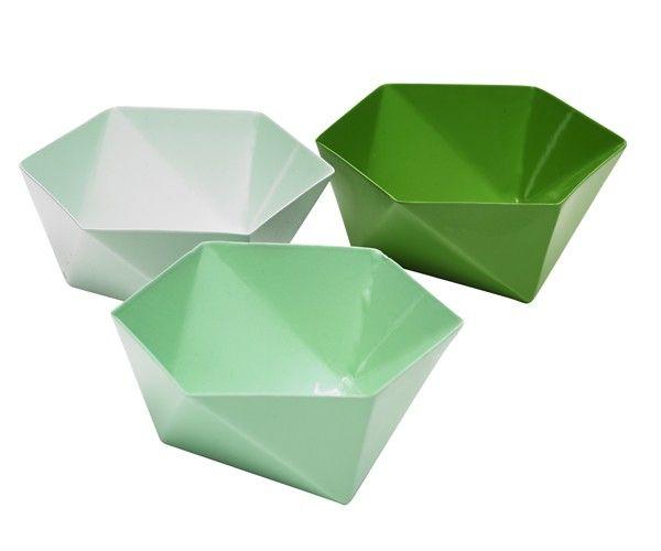 Origami Skåle - Grønne