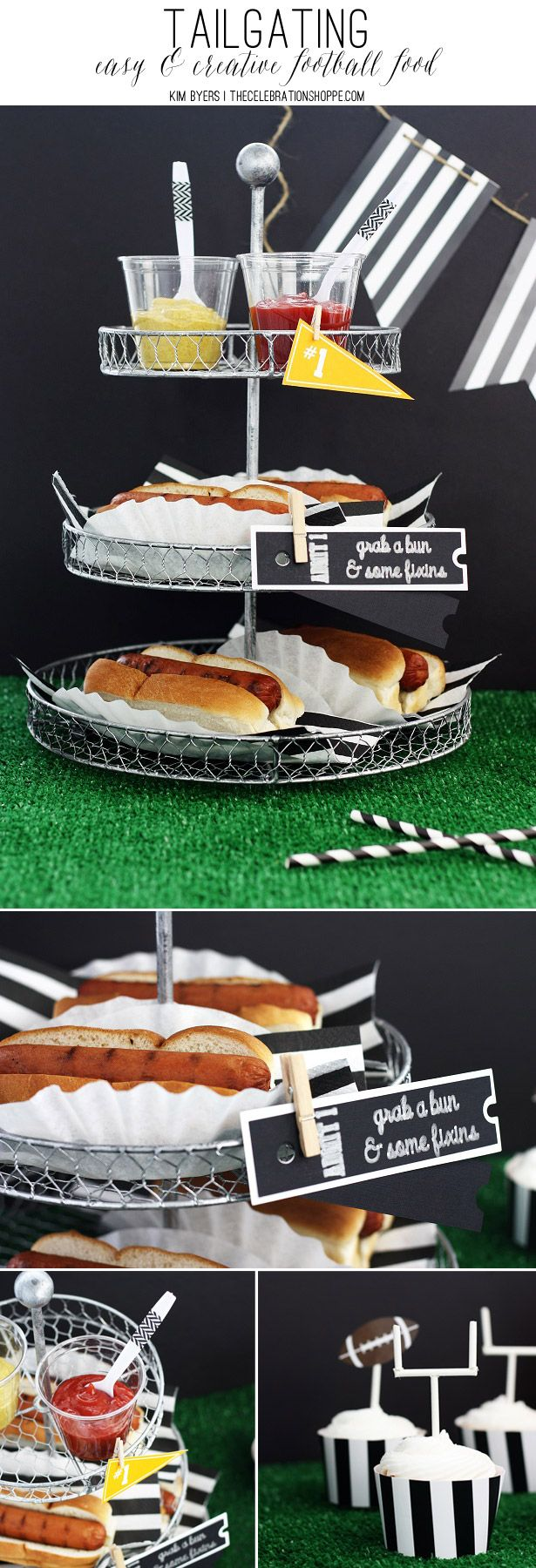 Tailgating – Easy & Creative Football Food | Kim Byers, TheCelebrationShoppe.com #footballparty