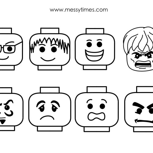 Lego faces for mask