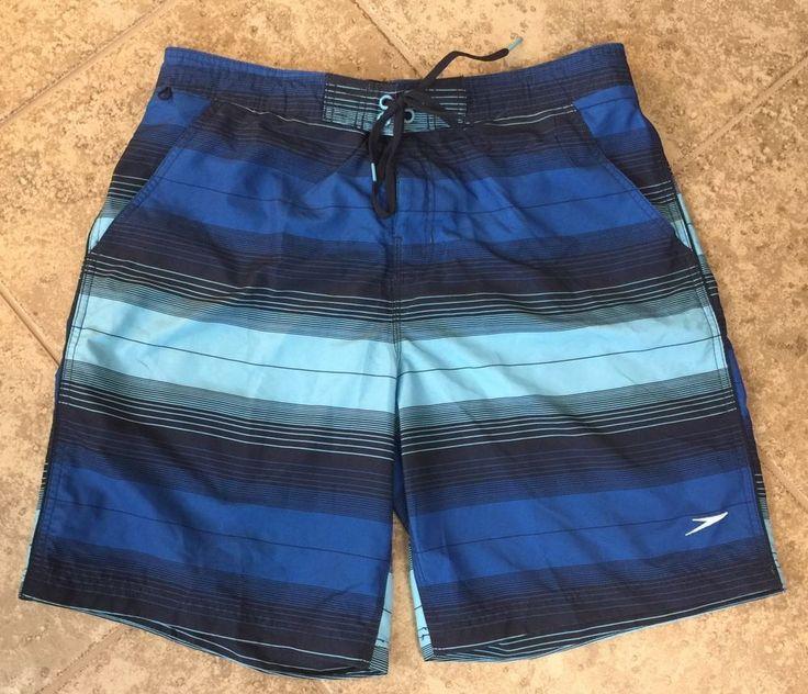 Speedo Men's Sz Large Swim Shorts Trunks Blue #Speedo #Trunks