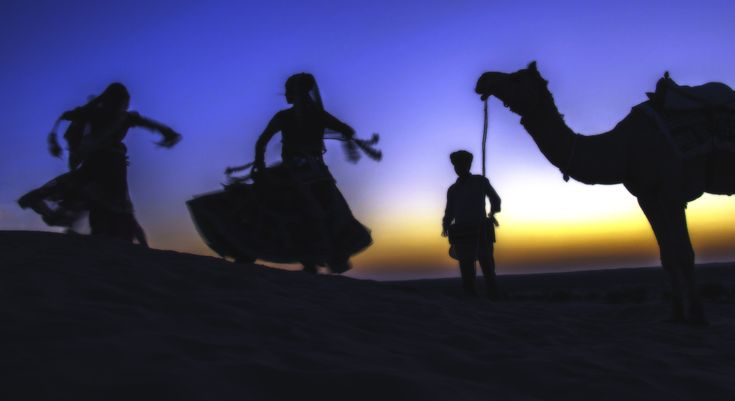 Silhouettes #travel #India #Rajasthan #photography #dessert