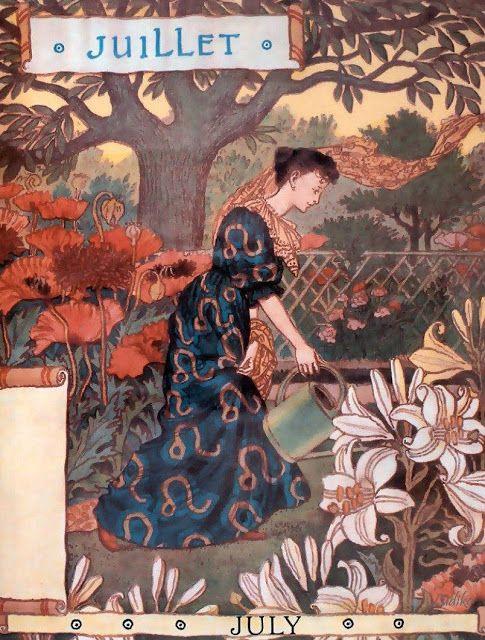 elyssediamond:  La Belle Jardiniere – July Eugène Grasset 1896 More fromLa Belle Jardiniere More Art Nouveau