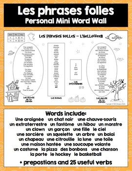 FRENCH HALLOWEEN SPEAKING AND WRITING ACTIVITIES - TeachersPayTeachers.com