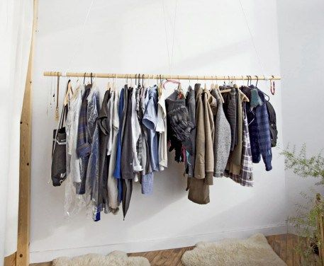 Hängande klädförvaring