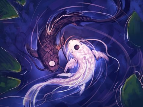 """""""Tui and La, your Moon and Ocean, have always circled each other in an eternal dance. They balance each other: push and pull, life and death, good and evil, yin and yang."""" ~Koh"""
