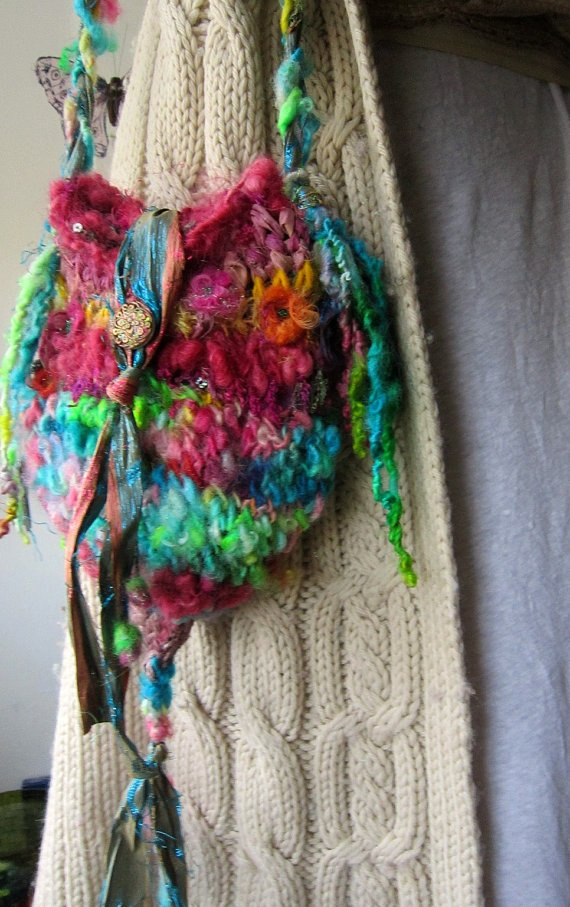 handknit bag rustic fairytale shoulder bag door beautifulplace, $54,00