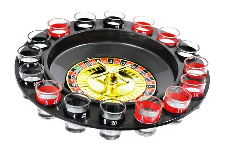 Shot Glass Roulette Drinking Game Set With 2 Balls
