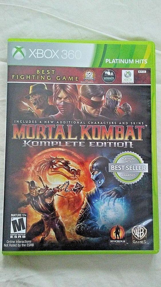 Xbox 360 Mortal Kombat Komplete Edition Platinum Hits 2012 Mature 17 Multiplayer