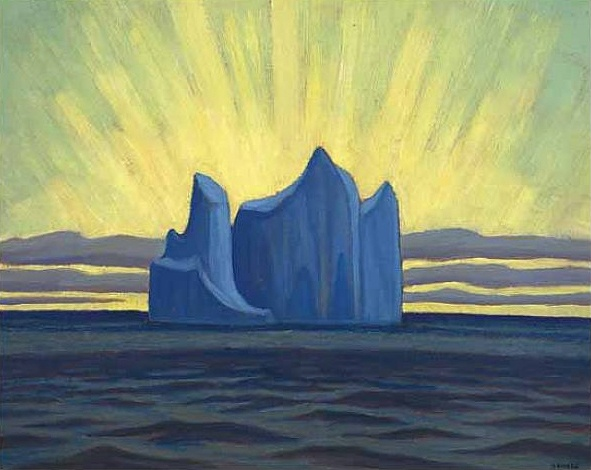 "LAWREN  HARRIS:  ""Iceberg, Smith Sound II,"""
