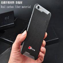 Réel de Fiber De Carbone auto Sline emblème téléphone cas autocollant pour iphone6 6 s 7 plus pour Audi A1 A3 A4 A5 A6 A7 A8 Q3 Q5 Q7 S R TT(China (Mainland))