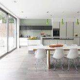 White-gloss kitchen units | Contemporary kitchen ideas | housetohome.co.uk