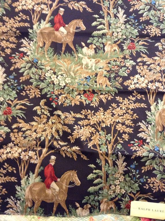 English Country  horse hunting  fox scene by FrenchCountryGirl, $15.00
