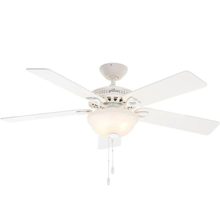 Hunter Astoria 52 In Indoor White Ceiling Fan With Light Kit