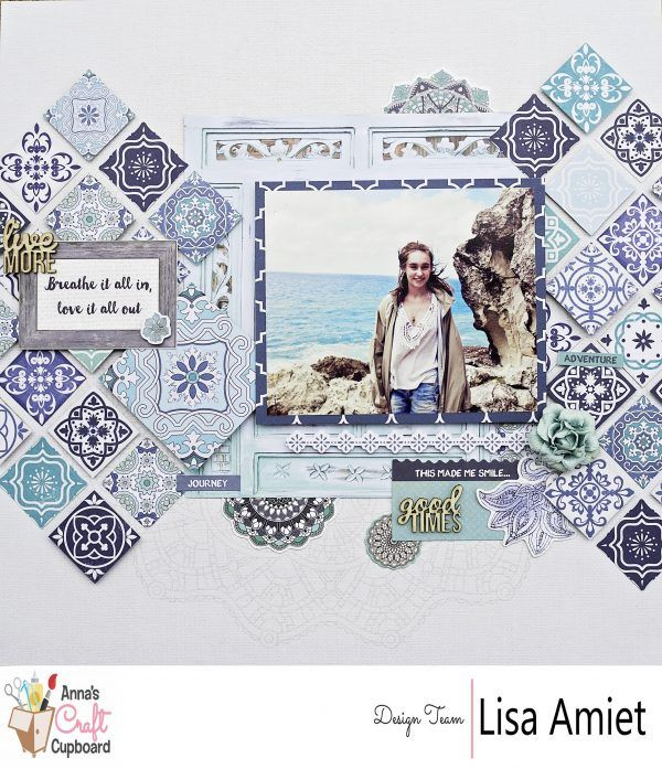 Kaisercraft 'Ubud Dreams' layout and collection (2016 ) with Lisa Amiet - Scrapbooking by Anna's Craft Blog. Learn more at annascraft.com.au - Wendy Schultz - Kaisercraft Layouts.