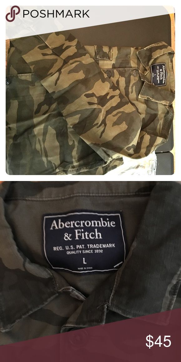 Men's long sleeve A&F camouflage top Camouflage top men's Large. New with tags Abercrombie & Fitch Shirts Dress Shirts