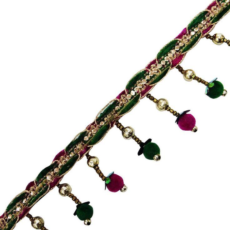 franjas doradas molduras perlas terciopelo cortina cinta cinta decorativa nupcial por el patio: Amazon.es: Hogar