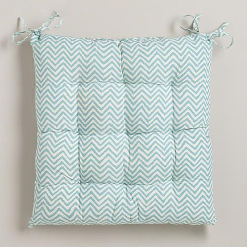 One of my favorite discoveries at WorldMarket.com: Beryl Green Chevron Chair Cushion