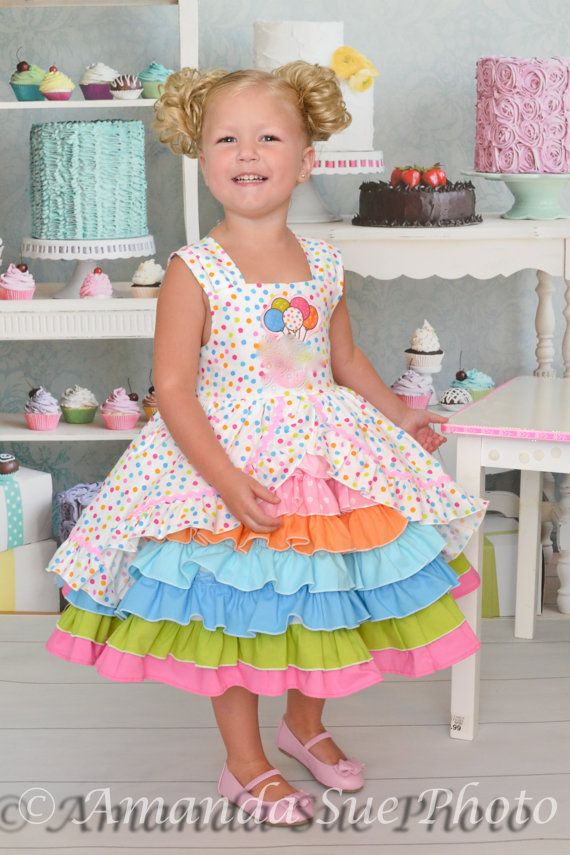 birthday party dress with puppy appliqué to coordinate with party theme  size 3T tall    This little girls party dress is the cutest dress you have