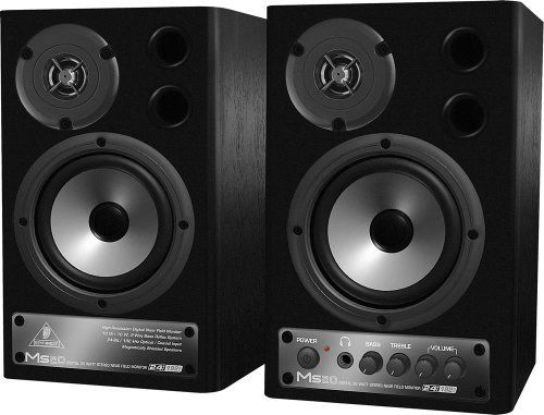 Behringer Speaker MS40 Digital 40-Watt Stereo Near Field Monitors by Behringer. $163.97. BEHRINGER DIGITAL MONITOR SPEAKERS MS40 24-Bit/192 kHz Digital 40-Watt Stereo Near Field Monitors  2-way active studio monitors ideally suited for computer studios, audio and multimedia workstations and keyboard monitoring Built-in 2 x 20-Watt powerful amplifiers with immense headroom Powerful woofers and high-resolution tweeters provide an ultra-linear frequency response Ultra-high ...