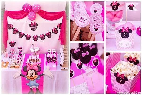 Мини Маус - Девочки - сладкий стол, кэнди бар, кенди бар, candy bar, десертный стол, оформление сладкого стола, торт на заказ, макаруны на заказ, капкейки на заказ, кейкпопсы, пирожное на палочке, печенье на заказ
