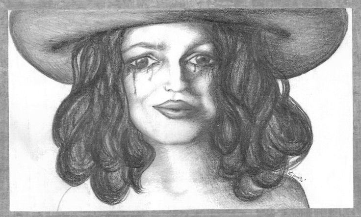 woman in a hat by Folkana.deviantart.com on @deviantART