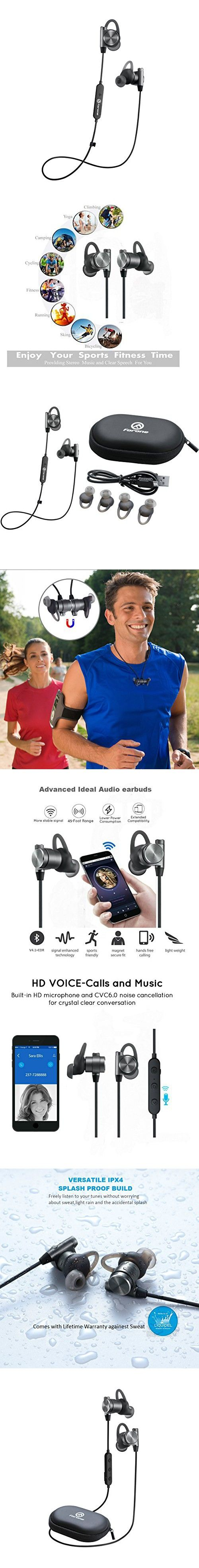 Wireless Bluetooth Earbuds | Forone Magnetic Headphones with Super Bass | IPX4 Waterproof Noise-Cancelling Headset with Mic | Fitness, Exercise, Running, Gym,Sports