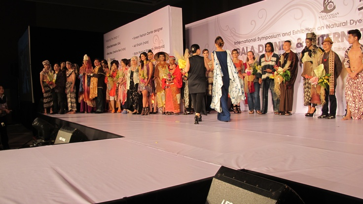 International Designers fashion and wearable art show - Inspiration behind WEFT Edric Ong - second from right